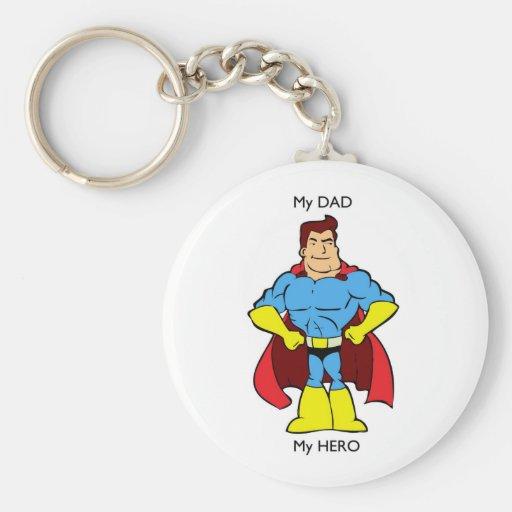 Mi papá mi super héroe del héroe llavero personalizado