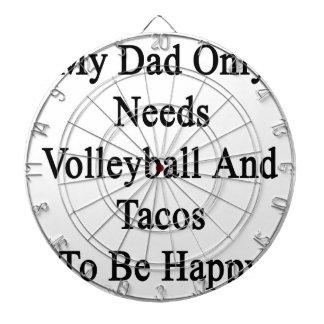 Mi papá necesita solamente voleibol y el Tacos ser