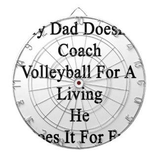 Mi papá no entrena el voleibol para la vida de A