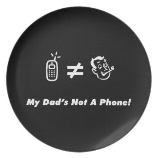 Mi papá no es un teléfono plato de comida