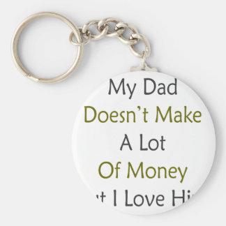 Mi papá no hace mucho dinero pero lo amo llavero redondo tipo pin
