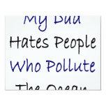 Mi papá odia la gente que contamina el océano invitación personalizada