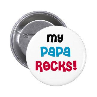 Mi papá oscila las camisetas y los regalos pin redondo de 2 pulgadas