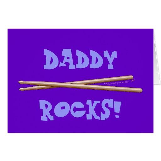 Mi papá oscila los palillos para el padre del tarjeta de felicitación