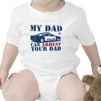 Mi papá puede arrestar a su papá trajes de bebé