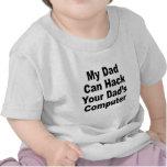Mi papá puede cortar el ordenador de su papá camiseta