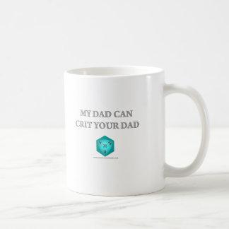 Mi papá puede Crit su papá Tazas De Café