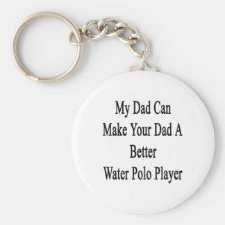 Mi papá puede hacer su papá un mejor water polo llavero redondo tipo pin