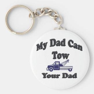 Mi papá puede remolcar a su papá llaveros