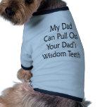 Mi papá puede sacar sus dientes de sabiduría de lo ropa perro