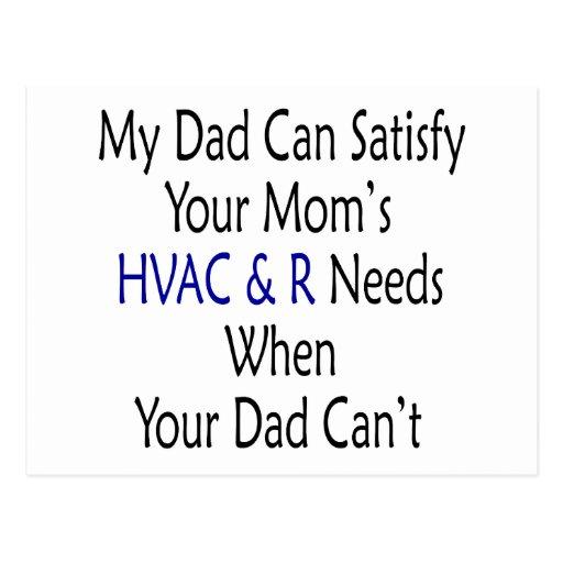 Mi papá puede satisfacer la HVAC de su mamá y R ne Tarjeta Postal
