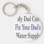 Mi papá puede si el abastecimiento de la agua de s llavero personalizado
