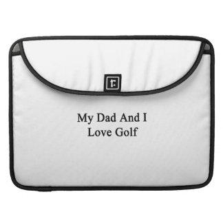 Mi papá y yo amamos golf fundas macbook pro