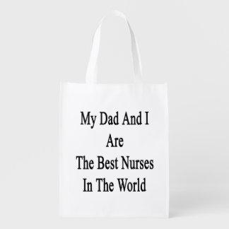 Mi papá y yo somos las mejores enfermeras del bolsas de la compra