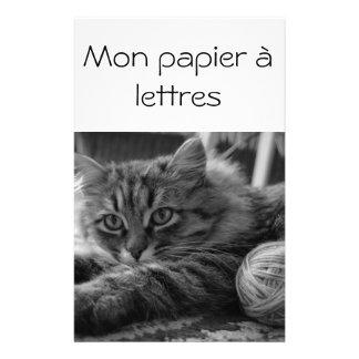 Mi papel de cartas papelería de diseño