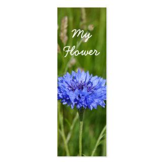 Mi paquete azul hermoso de la señal del Cornflower Tarjeta De Visita