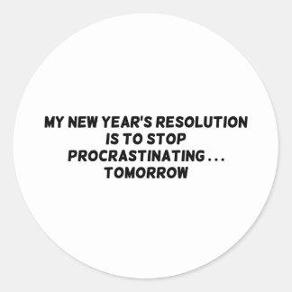 Mi parada de la resolución del Año Nuevo que Pegatina Redonda
