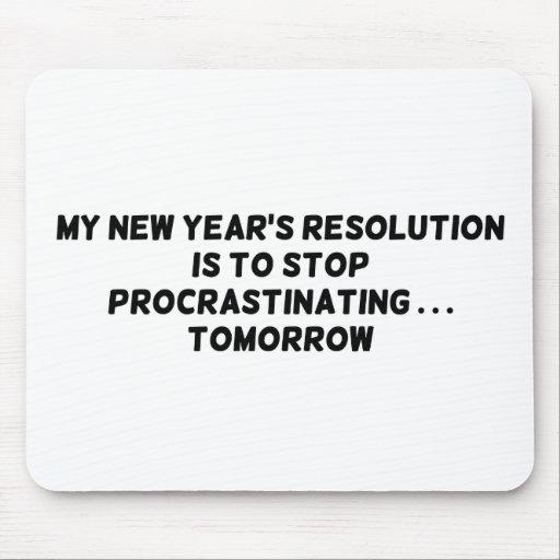 Mi parada de la resolución del Año Nuevo que procr Alfombrilla De Raton