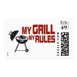 Mi parrilla mis reglas timbre postal