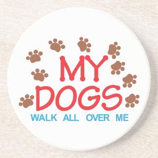 Mi paseo de los perros posavasos de arenisca