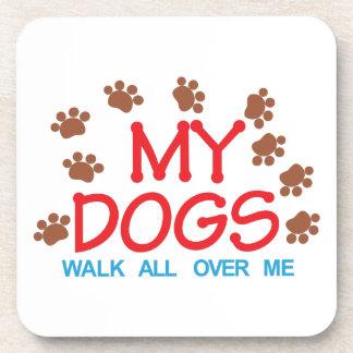 Mi paseo de los perros posavasos de bebida