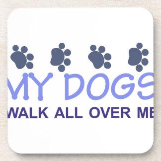 Mi paseo de los perros posavasos de bebidas