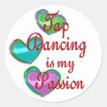 Mi pasión del baile de golpecito pegatinas redondas