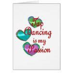 Mi pasión del baile de golpecito tarjetas