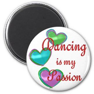 Mi pasión del baile imán redondo 5 cm