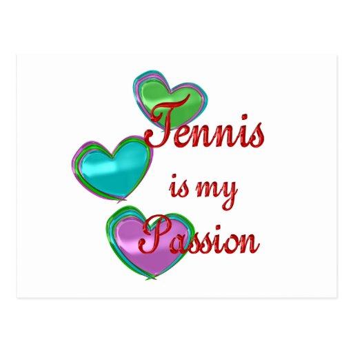 Mi pasión del tenis postales