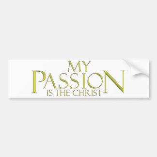 Mi pasión, es el Cristo Pegatina Para Auto