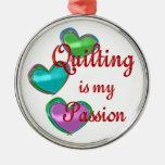 Mi pasión que acolcha ornaments para arbol de navidad