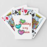 Mi pasión que hace punto cartas de juego