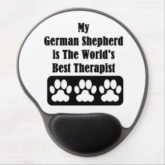 Mi pastor alemán es el mejor terapeuta del mundo alfombrilla para ratón de gel