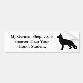 Mi pastor alemán es más elegante pegatina para auto