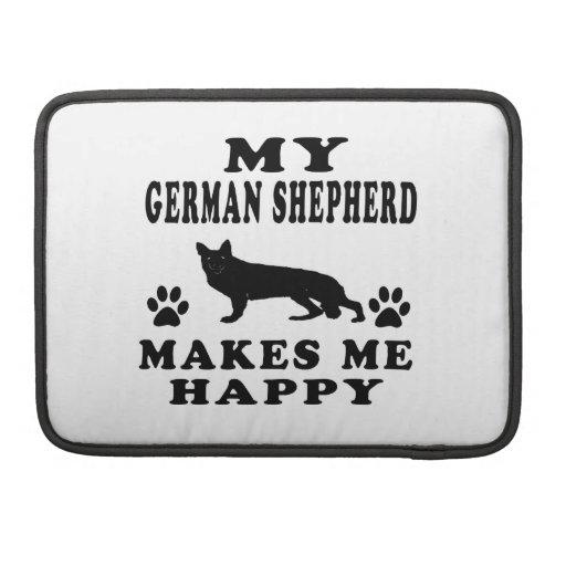 Mi pastor alemán me hace feliz fundas macbook pro
