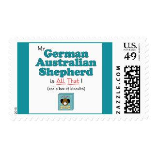 ¡Mi pastor australiano alemán es todo el eso! Sellos