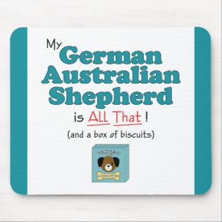 ¡Mi pastor australiano alemán es todo el eso! Tapetes De Raton