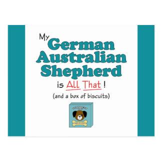 ¡Mi pastor australiano alemán es todo el eso! Postal