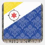 Mi patria Bonaire Pegatina Cuadrada