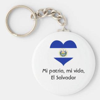 Mi patria, mi vida, El Salvador Keychain