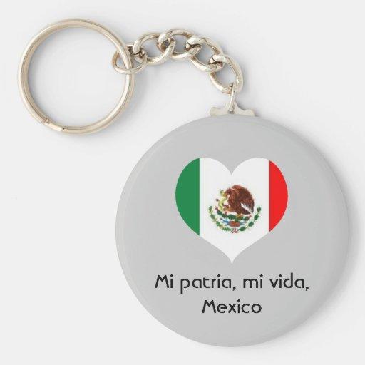 Mi patria, mi vida, Mexico key chain