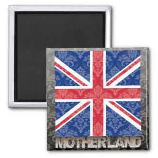 Mi patria Reino Unido Imán Cuadrado