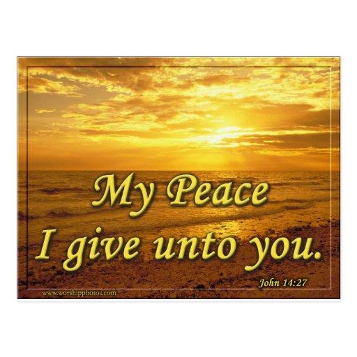 Mi paz le doy postal