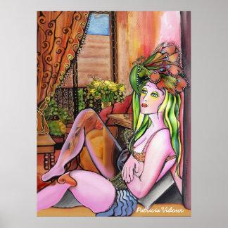 Mi pedazo del azul - mujeres de las series de Pich Posters