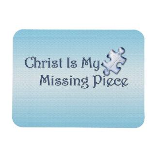 Mi pedazo que falta religioso imán rectangular