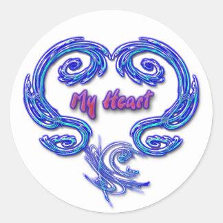Mi pegatina del corazón (blanco)