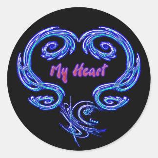 Mi pegatina del corazón (negro)