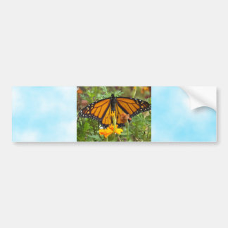 Mi pegatina del Mariposa-parachoque del monarca Pegatina De Parachoque