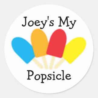 Mi pegatina del Popsicle de Joey